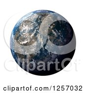 Clipart Of A 3d Planet Earth On White Royalty Free Illustration