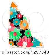 Clipart Of A Torn Piece Of Colorful Floral Scrapbooking Paper On White Royalty Free Illustration