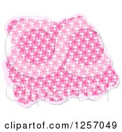 Clipart Of A Torn Piece Of Pink Floral Scrapbooking Paper On White Royalty Free Illustration