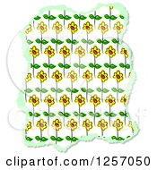 Clipart Of A Torn Piece Of Sunflower Scrapbooking Paper On White Royalty Free Illustration by Prawny