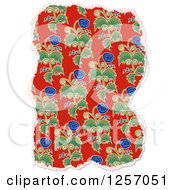 Clipart Of A Torn Piece Of Floral Scrapbooking Paper On White Royalty Free Illustration