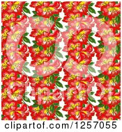 Clipart Of A Background Of Orchid Flowers Royalty Free Illustration by Prawny