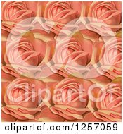 Clipart Of A Background Of Pink Roses Royalty Free Illustration