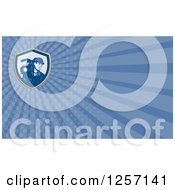 Clipart Of A Cameraman Business Card Design Royalty Free Illustration