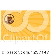 Clipart Of A Woodcut Pitbull Dog Business Card Design Royalty Free Illustration