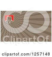 Clipart Of A Woodcut Pitbull Dog Business Card Design Royalty Free Illustration by patrimonio