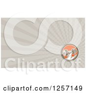 Clipart Of A Dumbbell Business Card Design Royalty Free Illustration