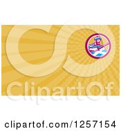 Clipart Of A Scottish Highlander Business Card Design Royalty Free Illustration
