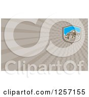 Clipart Of A Snow Plow Business Card Design Royalty Free Illustration by patrimonio