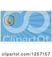 Clipart Of A Turkey Bird Business Card Design Royalty Free Illustration
