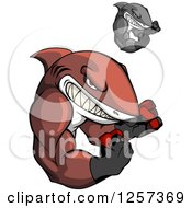 Clipart Of Tough Muscular Boxing Sharks Royalty Free Vector Illustration by Vector Tradition SM