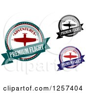 Clipart Of Premium Flight Airplane Designs Royalty Free Vector Illustration by Seamartini Graphics