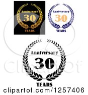 Clipart Of Anniversary 30 Years Designs Royalty Free Vector Illustration by Seamartini Graphics
