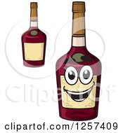 Clipart Of Alcohol Bottles Royalty Free Vector Illustration by Seamartini Graphics