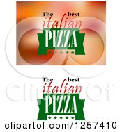 Clipart Of The Best Italian Pizza Designs Royalty Free Vector Illustration by Seamartini Graphics