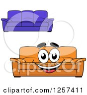 Clipart Of Couches Royalty Free Vector Illustration by Seamartini Graphics