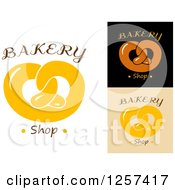 Clipart Of Soft Pretzels With Bakery Shop Text Royalty Free Vector Illustration by Seamartini Graphics