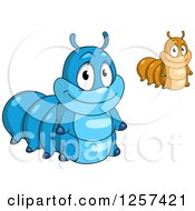 Clipart Of Cute Caterpillars Royalty Free Vector Illustration by Seamartini Graphics