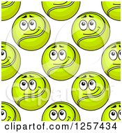 Clipart Of A Seamless Pattern Background Of Tennis Balls Royalty Free Vector Illustration by Seamartini Graphics