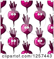 Seamless Pattern Background Of Happy Beets