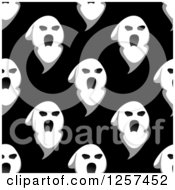 Clipart Of A Seamless Pattern Background Of Ghosts Royalty Free Vector Illustration by Seamartini Graphics