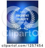 Clipart Of A White Highest Quality Design Over Blue Royalty Free Vector Illustration by Seamartini Graphics
