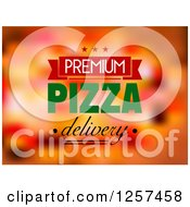 Clipart Of A Premium Pizza Delivery Design Royalty Free Vector Illustration by Seamartini Graphics