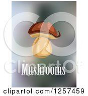 Clipart Of A Mushroom And Text Royalty Free Vector Illustration by Seamartini Graphics