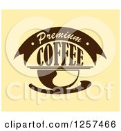 Clipart Of A Premium Coffee Design Royalty Free Vector Illustration by Seamartini Graphics