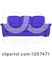 Clipart Of A Blue Couch Royalty Free Vector Illustration by Seamartini Graphics