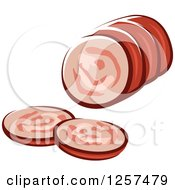 Clipart Of A Sliced Meatloaf Royalty Free Vector Illustration by Seamartini Graphics