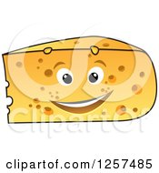 Clipart Of A Happy Cheese Wedge Royalty Free Vector Illustration by Seamartini Graphics
