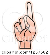 Clipart Of A Counting Hand Holding Up One Finger 1 In Sign Language Royalty Free Vector Illustration by Lal Perera