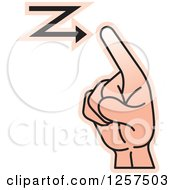 Clipart Of A Sign Language Hand Gesturing Letter Z Royalty Free Vector Illustration