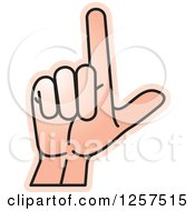 Clipart Of A Sign Language Hand Gesturing Letter L Royalty Free Vector Illustration by Lal Perera