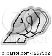 Silver Sign Language Hand Gesturing Letter M