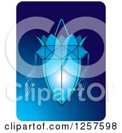 Clipart Of A Sri Lankan Vesak Kuudu Lantern Over Blue Royalty Free Vector Illustration