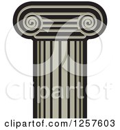 Clipart Of A Column Pillar Royalty Free Vector Illustration by Lal Perera