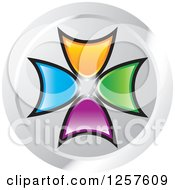 Clipart Of Colorful Arrow Logo Royalty Free Vector Illustration by Lal Perera