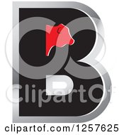 Clipart Of A Cow On A Letter B Royalty Free Vector Illustration