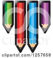 Clipart Of Colorful Pencils Royalty Free Vector Illustration by Lal Perera