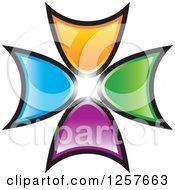 Clipart Of Colorful Arrow Logo Royalty Free Vector Illustration