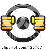 Clipart Of Hands On A Steering Wheel Royalty Free Vector Illustration by Lal Perera #COLLC1257671-0106