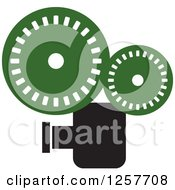 Clipart Of A Black And Green Film Camera Royalty Free Vector Illustration by Lal Perera