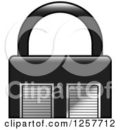 Clipart Of A Padlock Storage Unit Icon Royalty Free Vector Illustration by Lal Perera