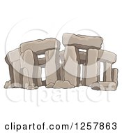 Clipart Of Ruins Of Stonehenge Royalty Free Vector Illustration by visekart