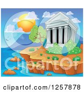 Clipart Of The Acropolis Of Athens In Greece Royalty Free Vector Illustration