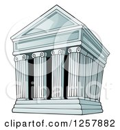 Clipart Of An Ancient Greek Structure With Columns Royalty Free Vector Illustration