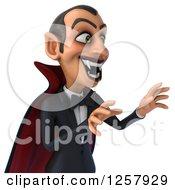 Clipart Of A 3d Attacking Dracula Vampire Baring His Fangs Royalty Free Illustration
