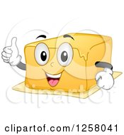 Clipart Of A Happy Butter Character Giving A Thumb Up Royalty Free Vector Illustration